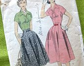 1960s Vintage VOGUE Sewing Pattern Vogue 5257 by SelvedgeShop