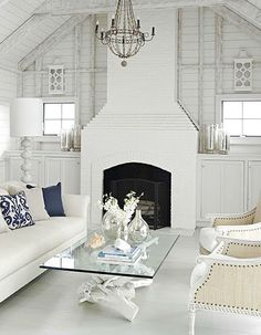 Coastal Coffee Table Ideas: http://www.completely-coastal.com/2014/08/coastal-coffee-table-styles.html From baskets to trunks to weathered wood to driftwood tables.