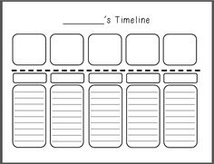 Teaching Kati- Personal Timeline! Great for helping kids learn about chronological order and timelines that is relatable!