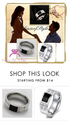 """""""https://www.etsy.com/listing/258613191/mens-8mm-stainless-steel-silver-black?ref=shop_home_active_18"""" by lejla150 ❤ liked on Polyvore featuring beauty"""