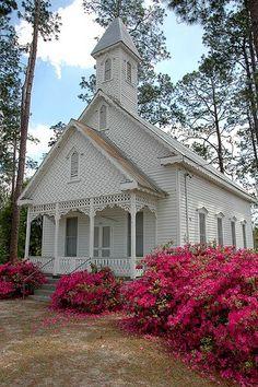 Old Church built in 1890 in Ruskin, Georgia
