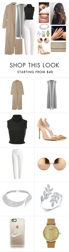 """Unbenannt #425"" by aysuyucel ❤ liked on Polyvore featuring The Row, Mint Velvet, Brandon Maxwell, Gianvito Rossi, Basler, Linda Farrow, Messika, Anne Sisteron, Casetify and Emporio Armani"