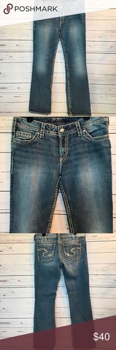 💙Silver Jeans Suki Denim Jean in size 26 | Silver jeans, UX/UI ...