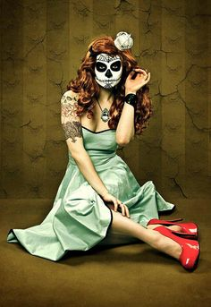 Candy Skull PinUp by Dorthe Arve Olsen, via Flickr