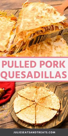 Got 15 minutes? You can make these quick and easy Pulled Pork Quesadillas with leftover pulled pork, shredded cheese, bbq sauce and tortillas. An easy lunch or dinner recipe! #quesadilla #recipe Tortillas, Sauce Barbecue, Bbq, Meat Appetizers, Appetizer Recipes, Dinner Recipes, Pulled Pork Quesadilla, Beef Quesadillas, Ham Sausage Recipe