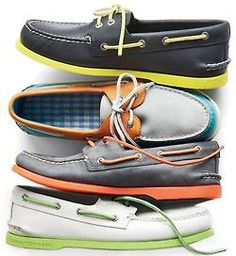 Colorful Men's Boat Shoes. <3