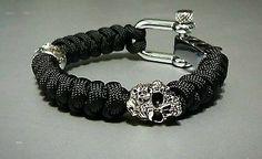 Mind Skulls Snake Knot Skull Paracord Bracelet / Adjustable Shackle