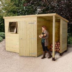 Other Structures & Shade Humor Log Store Solid Heavy Duty Log Store Garden Storage Wood Store Tanalised