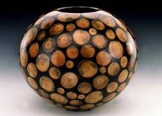 "Philip Moulthrop ""White Pine Mosaic Bowl"" (lathe turned white pine in resin) by josefa"