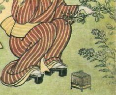 春信夜の萩虫籠