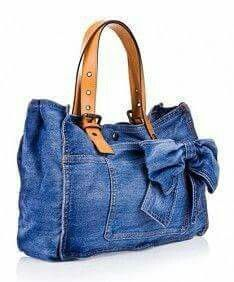 Diy Jeans, Denim Ideas, Denim Purse, Denim Crafts, Recycled Denim, Handmade Bags, Diy Clothes, Purses And Bags, Sewing Projects