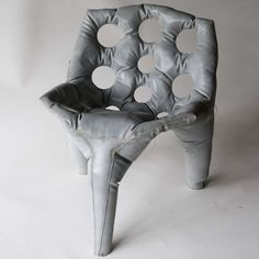 concrete furniture that looks inflated - tejo remy and rene veenhuizen