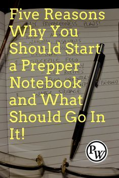A prepper notebook is a valuable resource. It is a place where you can record yo… A prepper notebook is a valuable resource. It is a place where you can record your preparedness plans, thoughts and ideas. Every prepper should have one. Survival Life, Survival Food, Homestead Survival, Wilderness Survival, Outdoor Survival, Survival Prepping, Survival Skills, Doomsday Prepping, Survival Shelter
