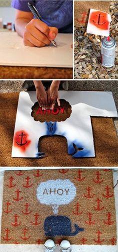 DIY Ahoy Nautical Mat