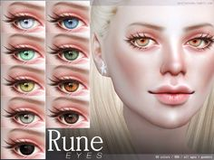 Eyes in 60 colors. All ages all genders. Found in TSR Category 'Sims 4 Eye Colors' Sims 4 Teen, Sims Four, Sims Cc, Sims Baby, Sims Free Play, Play Sims, Sims 4 Body Mods, Sims 4 Mods, The Sims 4 Skin