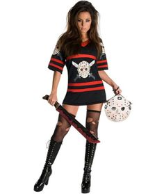 Friday the 13th Sexy Miss Voorhees Womens Costume | THEMES