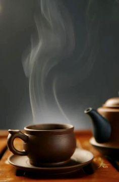 I like tea because it is healthy. Coffee Room, Steaming Cup, Chinese Tea, Chinese Style, Tea Art, Hot Fudge, Tea Service, Chocolate Coffee, Tea Ceremony