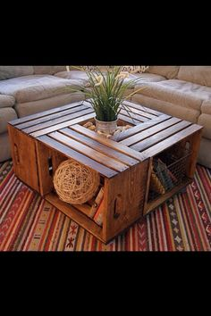 DIY Coffee Table With Crates - Fantastic! - Use ur imagination!
