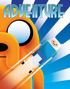 Adventure Time Art Deco Poster by Justonescarf on Etsy, $12.50