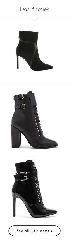 """""""Das Booties"""" by liddy-white ❤ liked on Polyvore featuring shoes, boots, ankle booties, casual, heels, black heeled boots, black pointed toe booties, black booties, black high heel boots and black stiletto booties"""