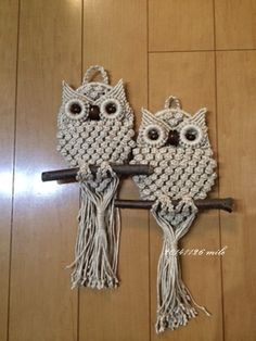 Owl macrame (entire board https://www.pinterest.com/jillhasalife/macrame/)