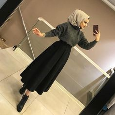 Untitled Hijab Style Dress, Modest Fashion Hijab, Modern Hijab Fashion, Muslim Women Fashion, Casual Hijab Outfit, Hijab Fashion Inspiration, Islamic Fashion, Skirt Fashion, Fashion Outfits