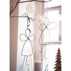 Do it: Metallienkelit Christmas Love, Winter Christmas, Winter Holidays, Paper Crafts, Diy Crafts, Work Inspiration, Wire Art, Xmas Decorations, Dusty Rose