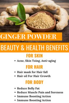 & Health Benefits of Ginger Powder Beauty & Health Benefits Of Ginger PowderBeauty & Health Benefits Of Ginger Powder Ginger Powder Benefits, Health Benefits Of Ginger, Lemon Benefits, Benifits Of Ginger, Blueberry Benefits, Health And Nutrition, Health Tips, Natural Kitchen, Different Recipes