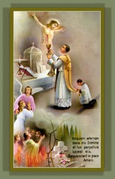 MASS FOR THE HOLY SOULS: HOLY CARD IMAGE