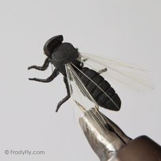 New at Frosty - Realistic Big Black Flying Ant - a great ant fly pattern, super effective!