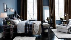 Elegant and comfortable bedroom Ikea Furniture, Bedroom Furniture, Dark Furniture, Interior Exterior, Bedroom Decor, Bedroom Retreat, Ikea Bedroom Design, Ikea Design, Cozy Bedroom