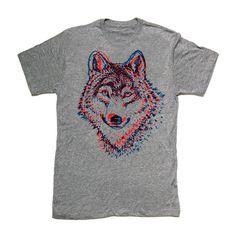 #wolf #wolves #shirts T-Shirt Wolf 3D, 18,50€, jetzt auf Fab.