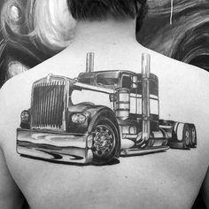 60 Truck Tattoos For Men - Vintage and Big Rig Ink Design Ideas