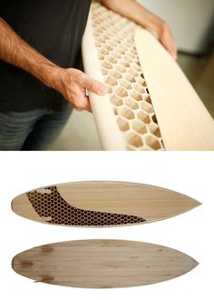 Wooden CNC milled surfboard by Mike Grobelny