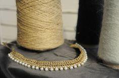 collarino SAKI - cod. 03 - au crochet neckband SAKI - au crochet http://www.lacortevenezia.it/
