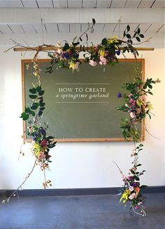 Spring Flower Garland - DIY - How to - Spring trends - flower decoration