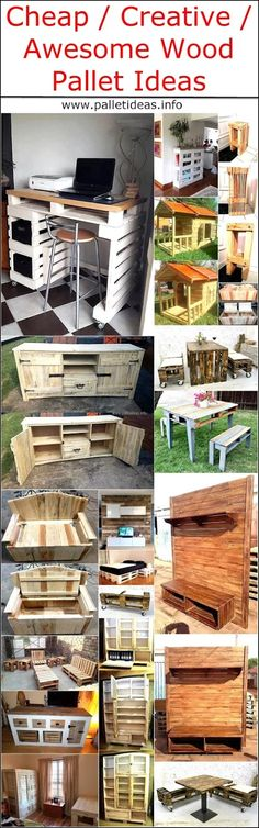 Cheap Creative Awesome Wood Pallet Ideas