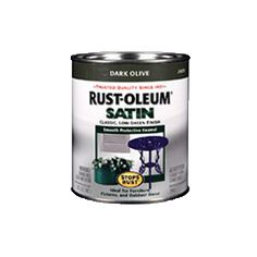 Rust-Oleum® Stops Rust® Satin Paint is a low-sheen satin enamel for metal, wood, concrete or masonry. Use indoor or outside for a smooth, protective finish. Types Of Painting, Painting Tips, House Painting, Clawfoot Tub Faucet, Product Page, Green Satin, Coffee Cans, Concrete, Enamel