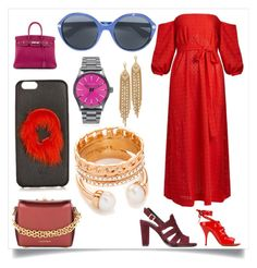 """The shade of red"" by denisee-denisee ❤ liked on Polyvore featuring Lisa Marie Fernandez, Givenchy, Tila March, Alexander McQueen, Fendi, Gucci, Nixon, Capwell + Co and Vita Fede"