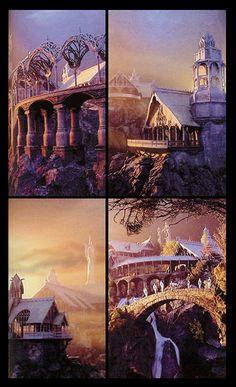 ~ Lights Of Rivendell ~  LOTR ~ J R R TOLKIEN  ~ Concept Art ~