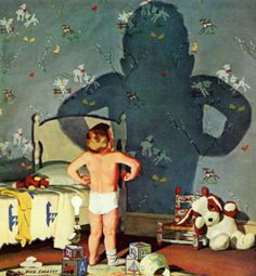 Big Shadow, Little Boy by Richard Sargent On the Wall | Apartment Therapy