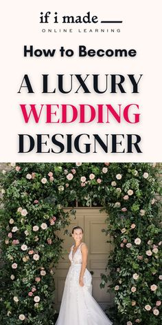 Learn to Become a Wedding Planner and Designer... The Ultimate Guide to Wedding Planning and Design. Learn everything you need to know about wedding planning, event design, floral design, and building a business from industry leader Sinclair & Moore...