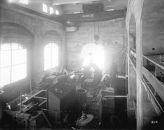 [Interior of partially constructed power house for Buntzen Lake Power Plant number two, showing assembly of the turbine and generator] - City of Vancouver Archives Generators For Sale, Water Powers, Paper Companies, Electric Power, Number Two, Vancouver, Management, Construction, History