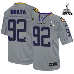 Baltimore Ravens http://#92 Haloti Ngata NIKE Lights Out Grey With Super Bowl Patch Mens Game NFL Jersey$79.99