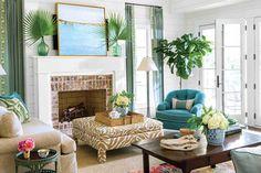 Yazlık ev oturma odası dekoru