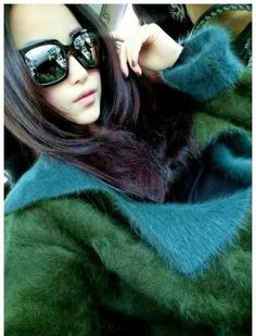 New Free Shipping New knit real mink sweater double layer cashmere velvet trench Coat Winter long mink cashmere Jacket TP191