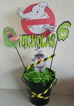 Handmade Ghostbusters Centerpiece by PaperPassione on Etsy