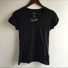 Black tshirt with lace heart Adorable and comfortable black tshirt by Old Navy. Lace heart cut out on the back never worn. NWOT. Old Navy Tops