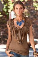 Blue Agate teardrop necklace
