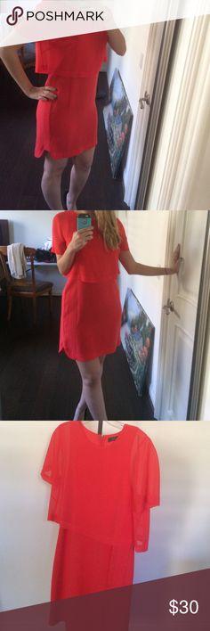 ♥️BCBG RED ORANGE DRESS WORN ONCE♥️ Beautiful BCBG evening dress worn once! BCBGMaxAzria Dresses
